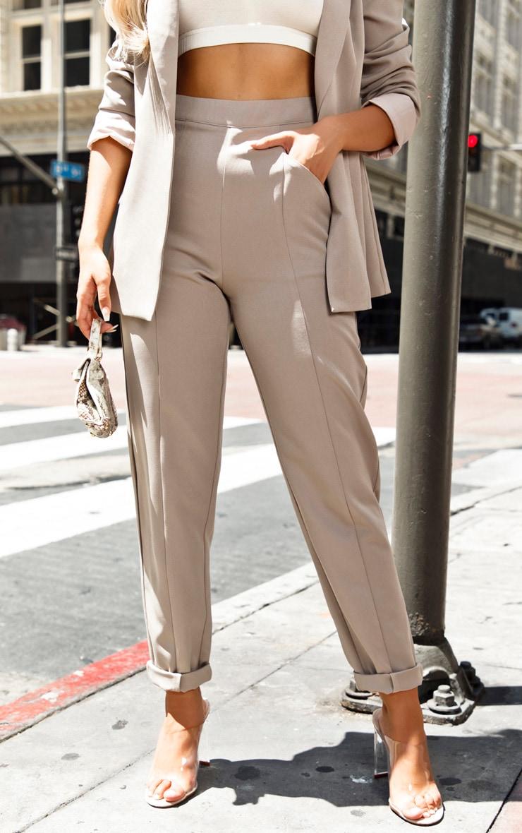 Grey Pebble Tapered Pants 2