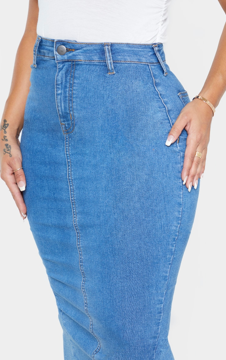 Shape Mid Wash Disco Midi Skirt 4