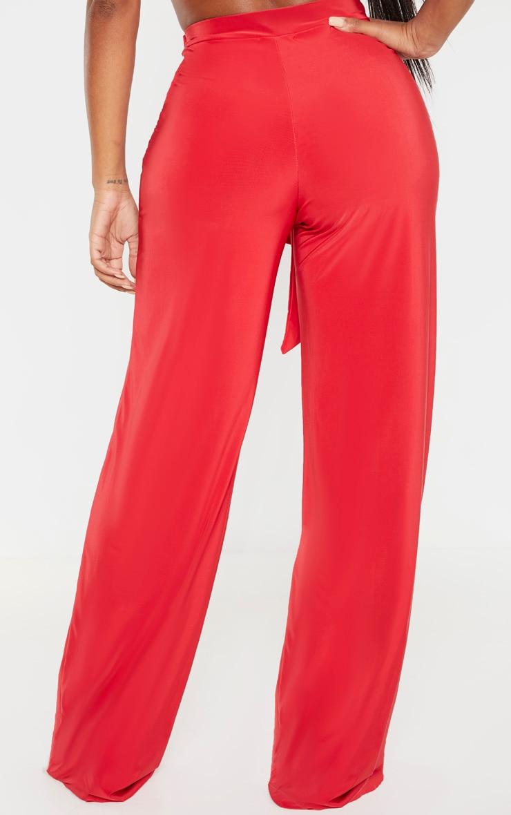 Shape Red Slinky Wide Leg Trouser 4