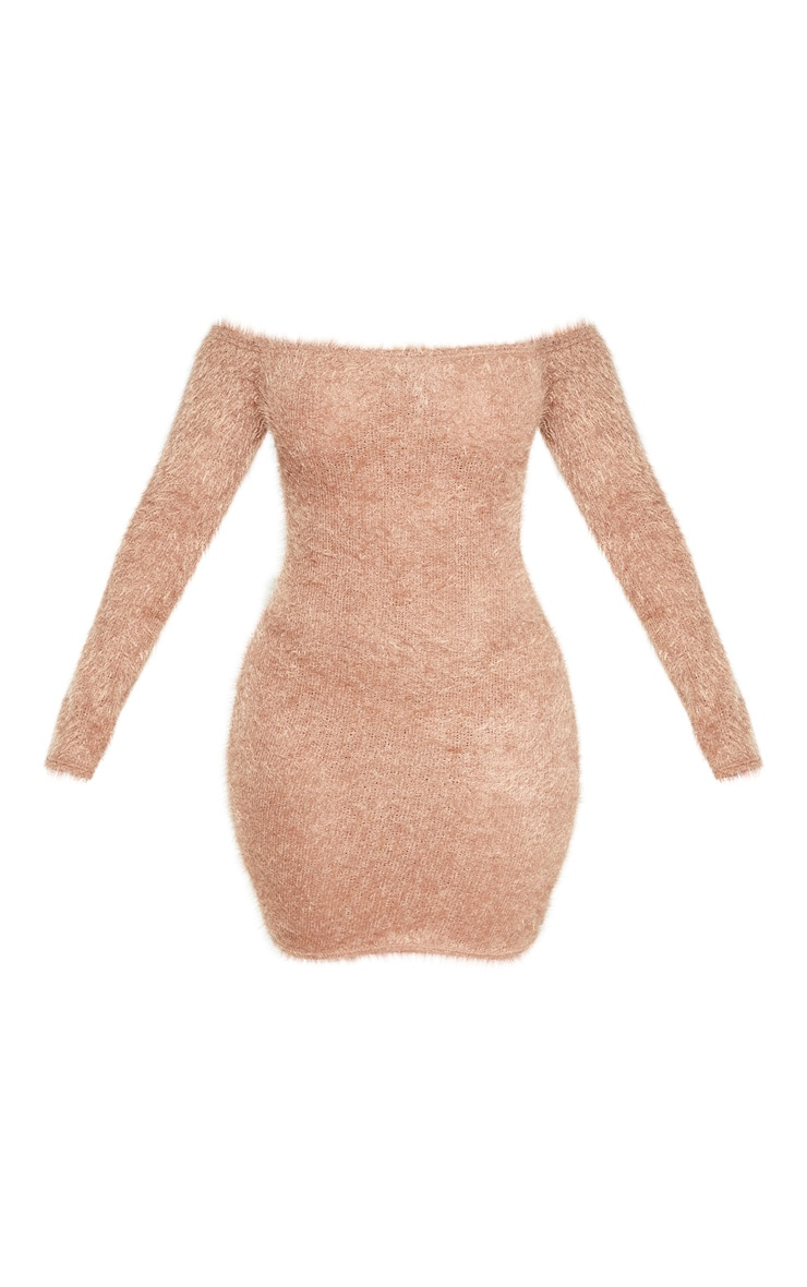 Shape Mocha Eyelash Knit Bodycon Dress 3