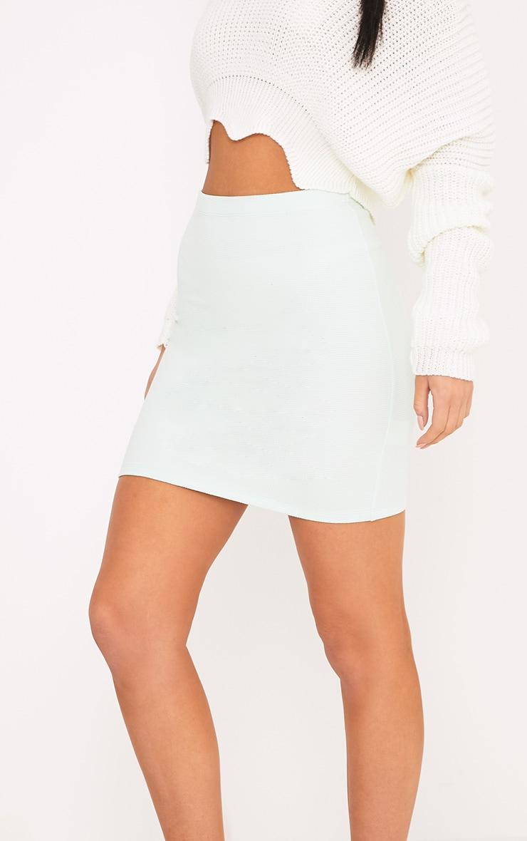 Steffy Mint Textured Mini Skirt 5