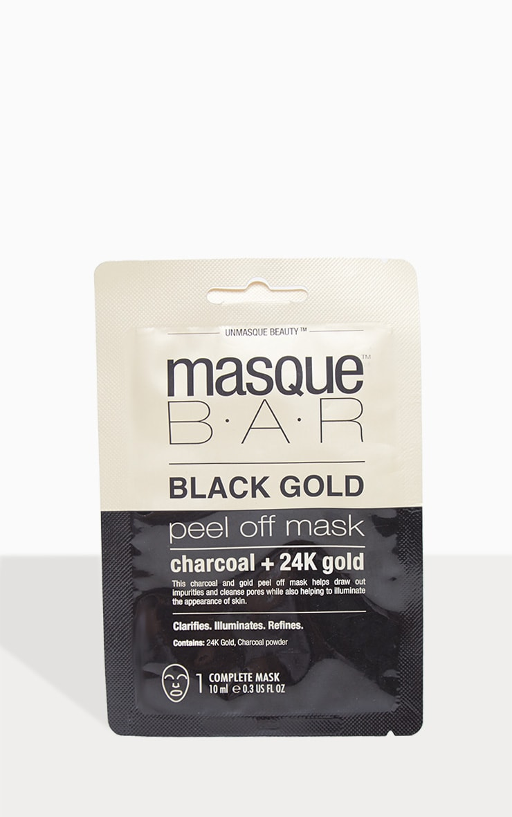 MasqueBar Charcoal 24K Gold Peel Off Mask