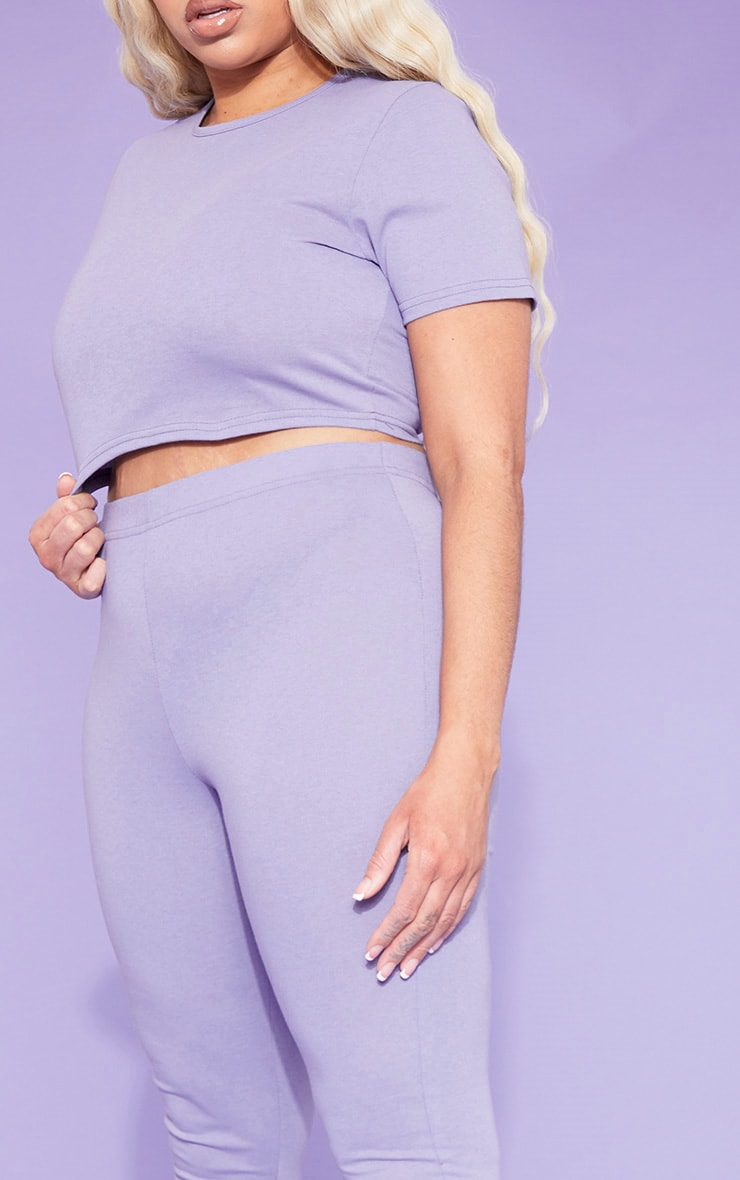 RECYCLED Plus Violet Crop T Shirt 6