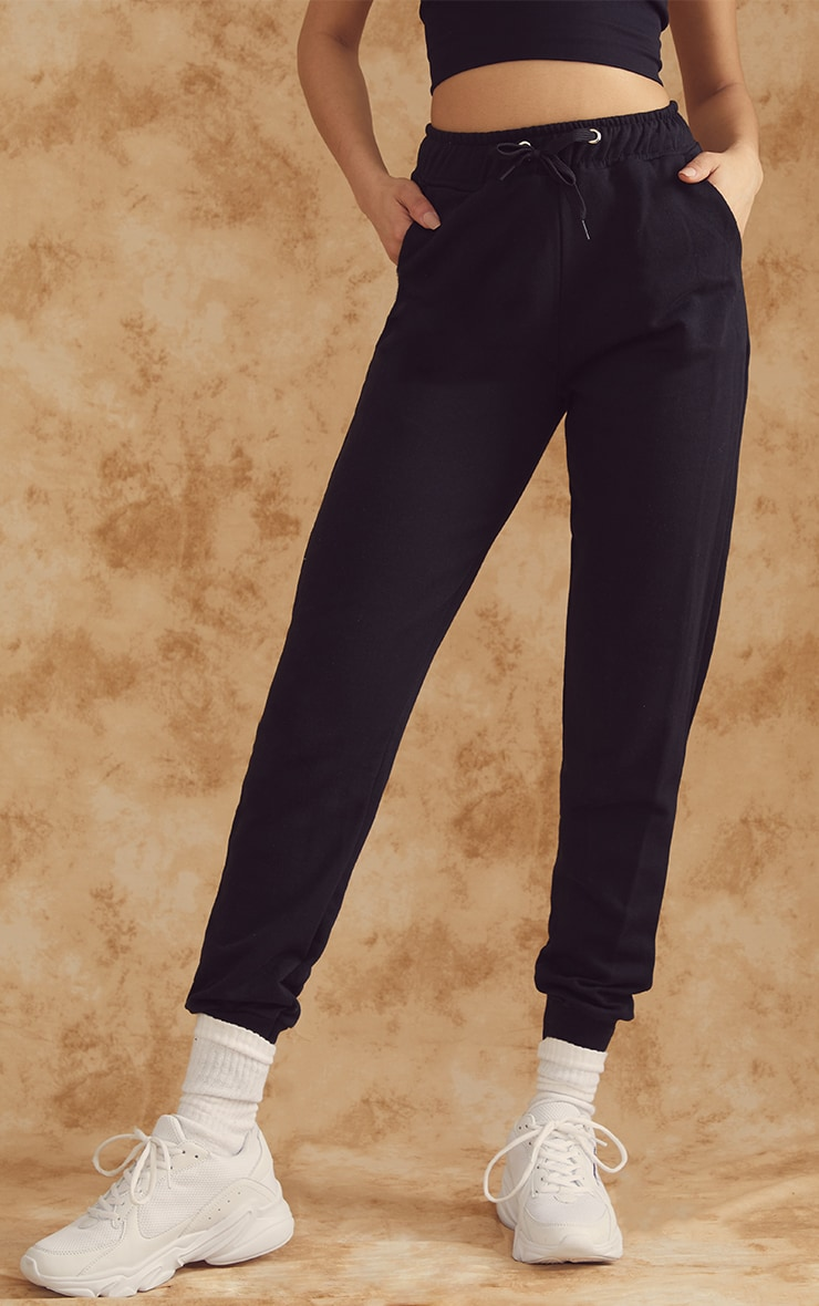 Black Basic Gym Sweat Jogger 2