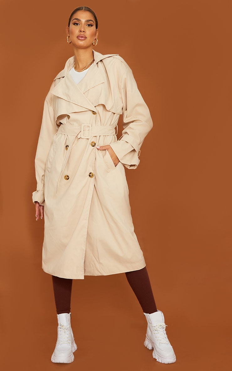 Tall Stone Oversized Belted Midi Trench 1