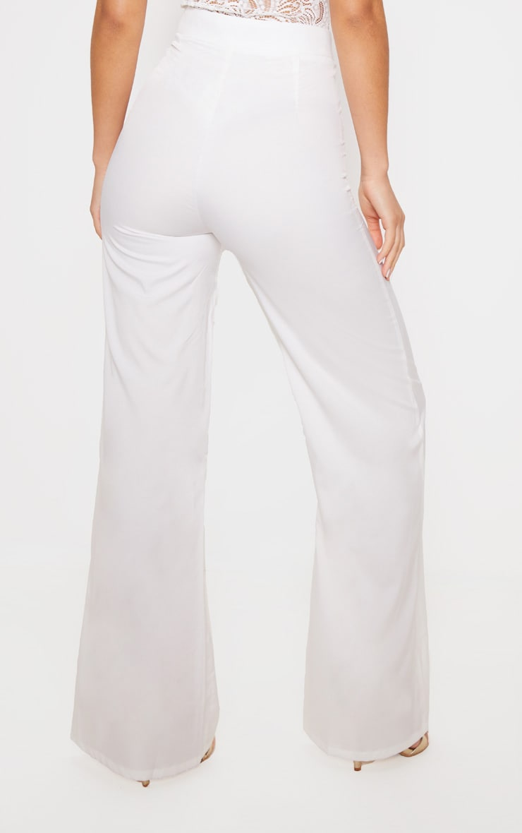 White Wide Leg Trousers 3