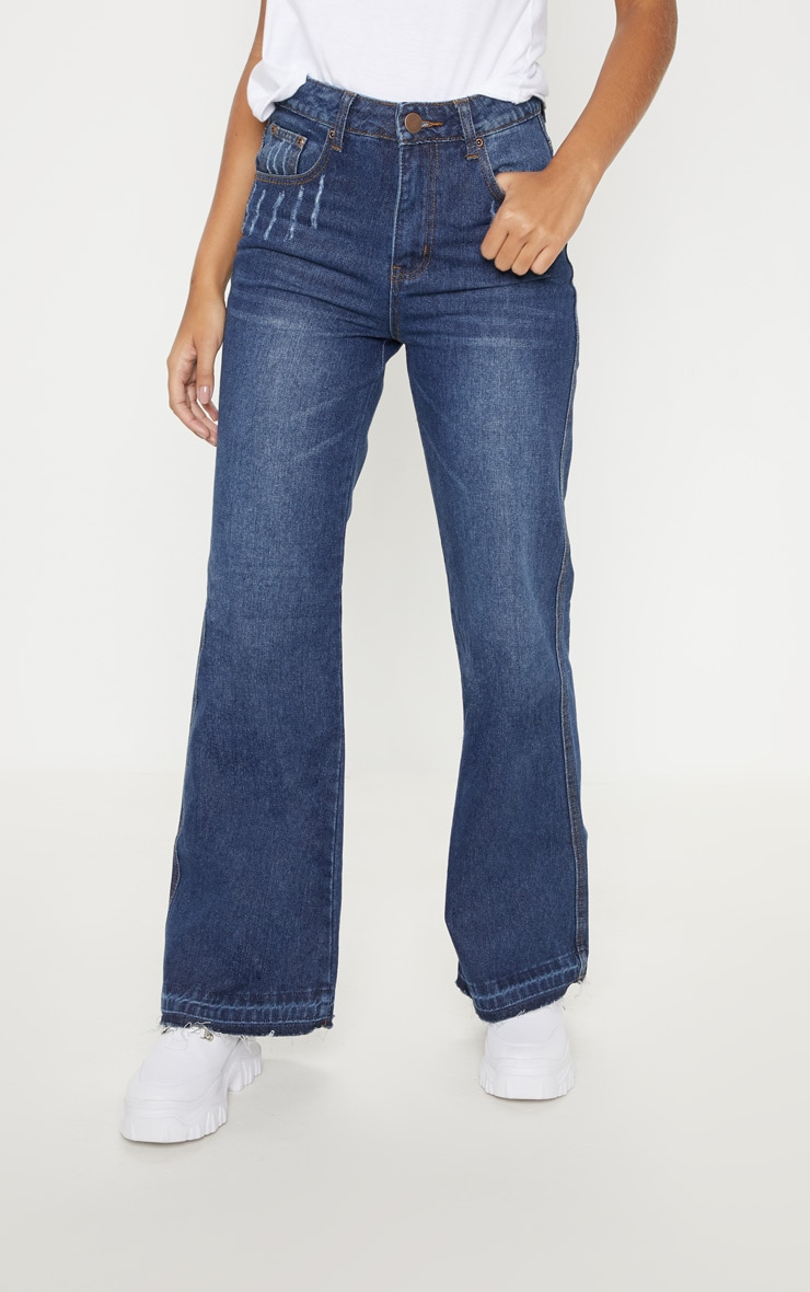 Dark Wash Wide Leg Jean  2
