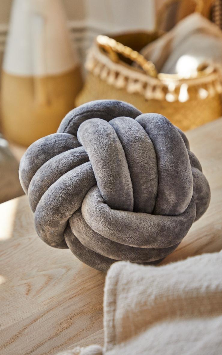 Grey Knot Cushion 1