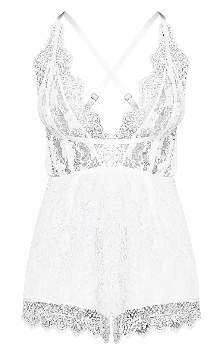 White Lace Harness Playsuit 3