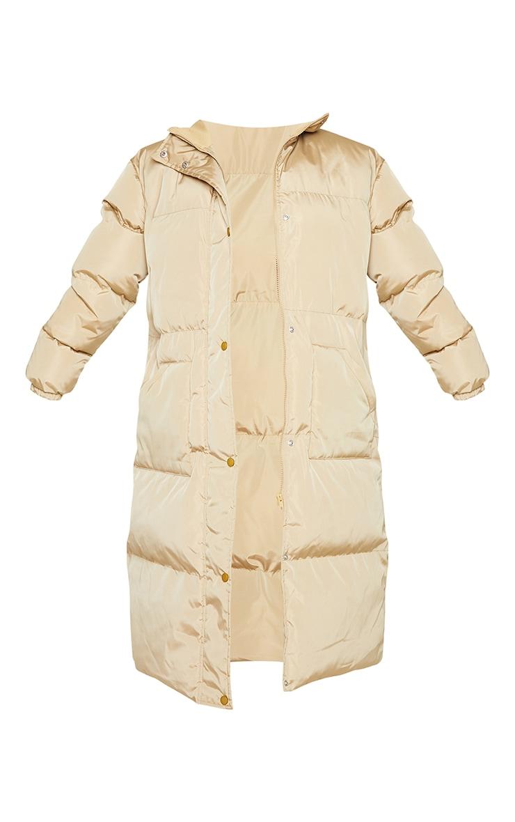 Petite Camel Maxi Puffer Coat 5