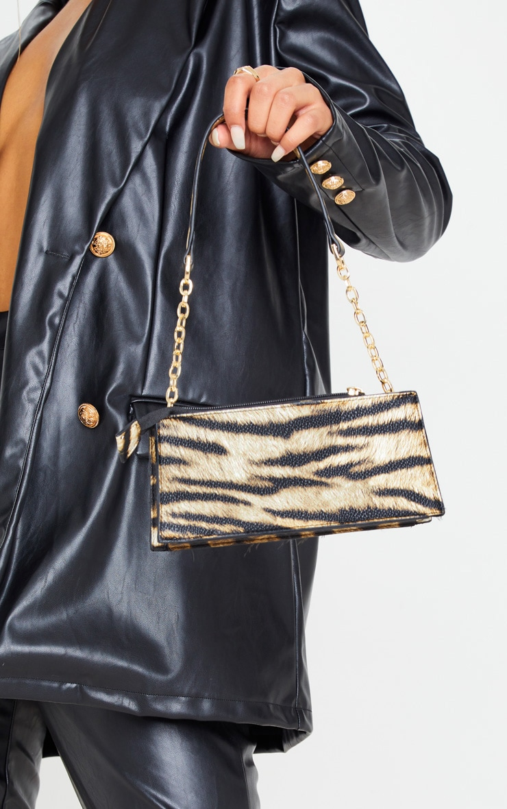 Tiger Chain Handle 90s Shoulder Bag 1