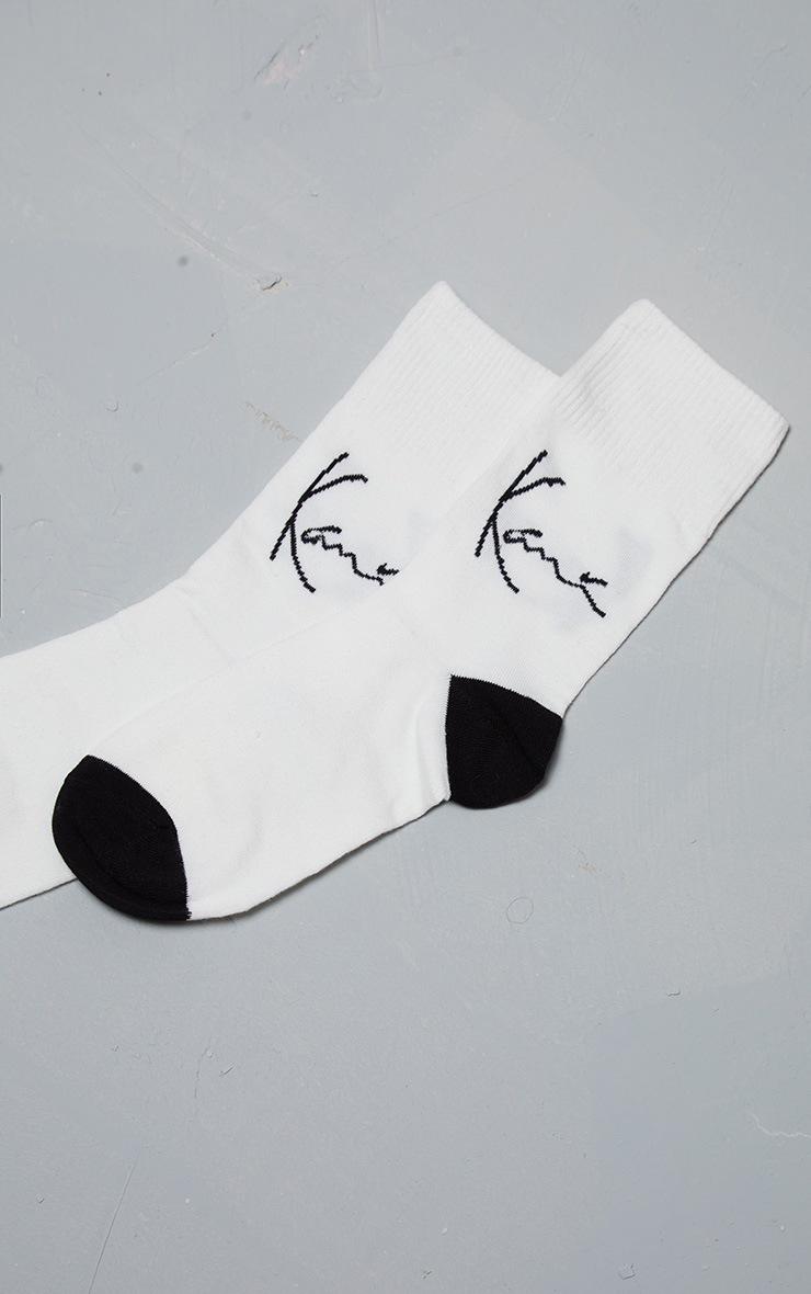 KARL KANI White Socks  2