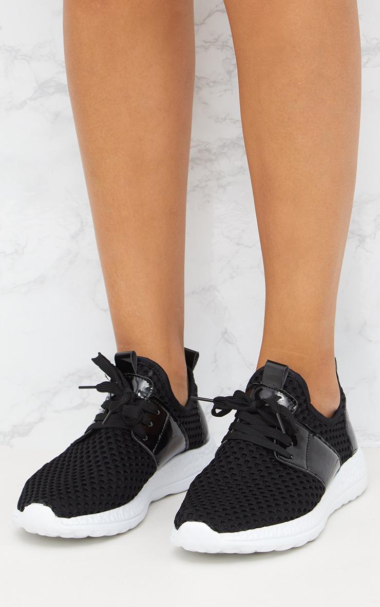 Black Fishnet Sneakers 2