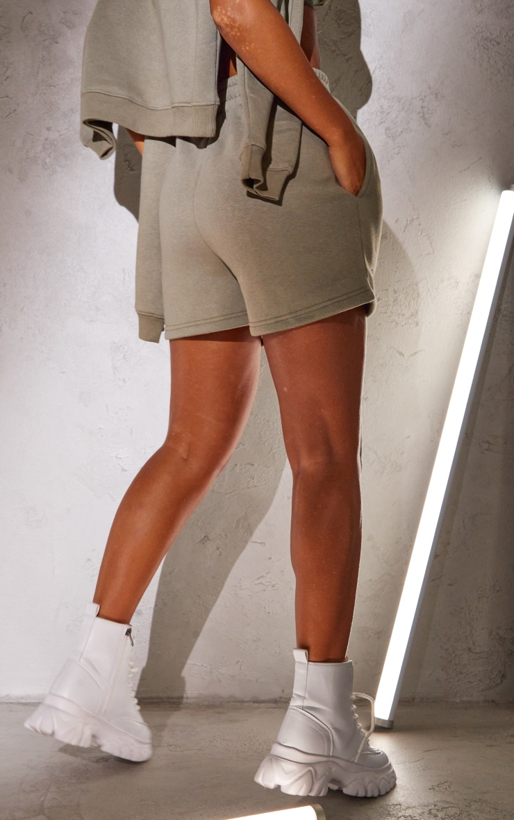 RENEW PRETTYLITTLETHING Khaki Sweat Pocket Shorts 3