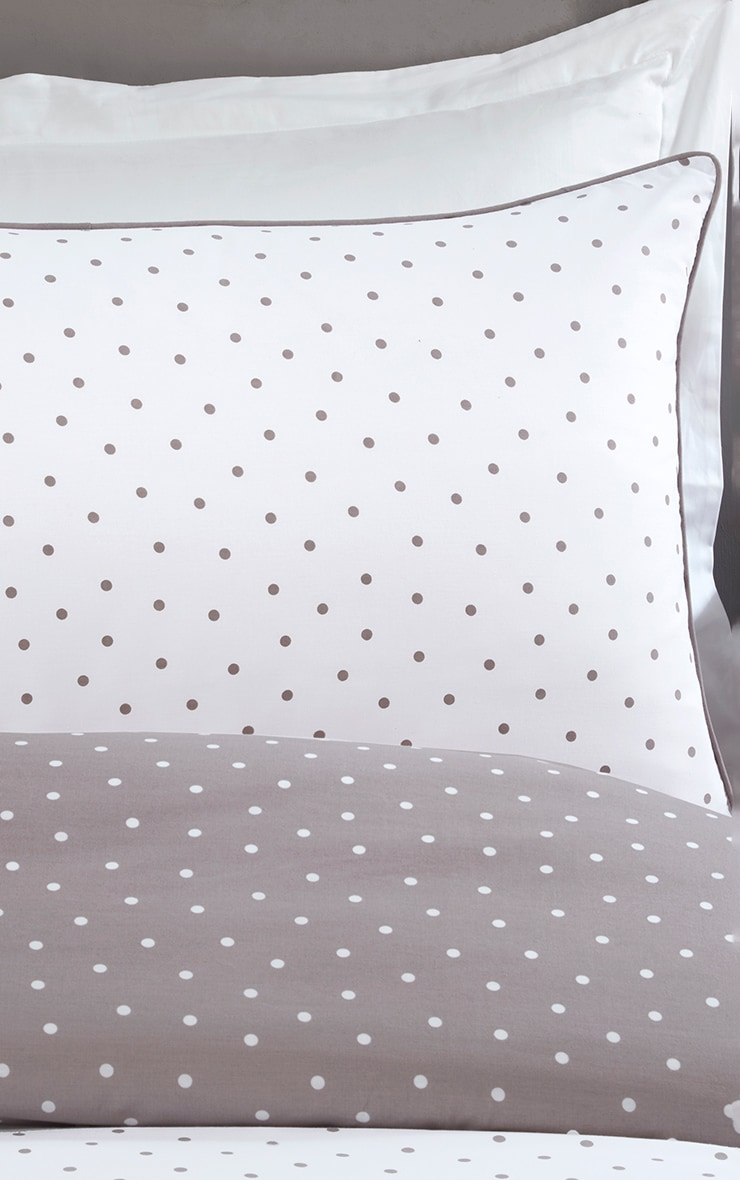 Mink Reverse Polka Dot Double Duvet Set 2