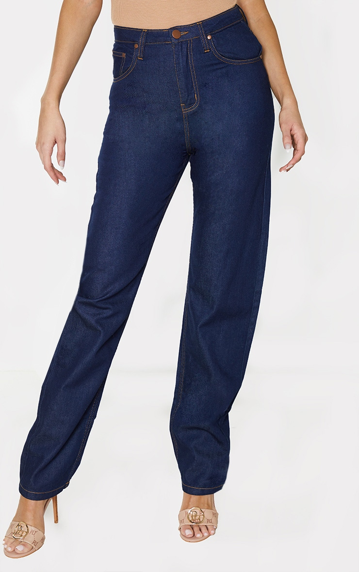 Tall Dark Wash Straight Leg Jeans 2