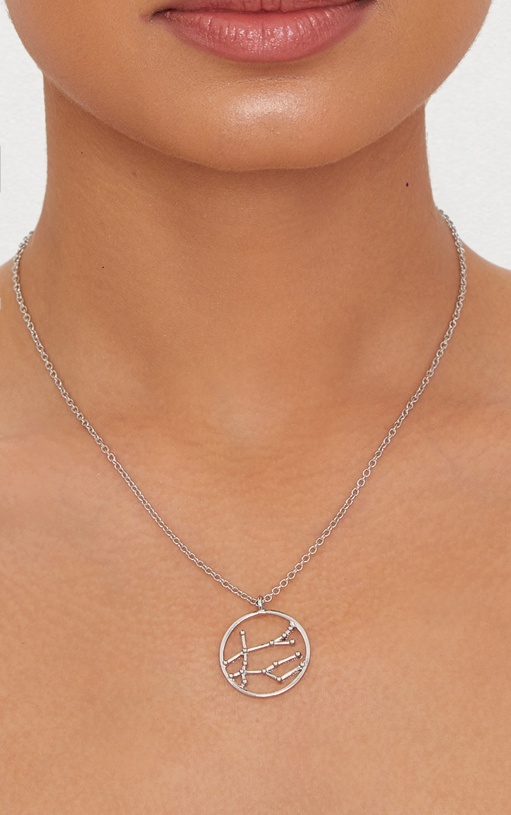 Silver Zodiac Gemini Star Constellation Necklace