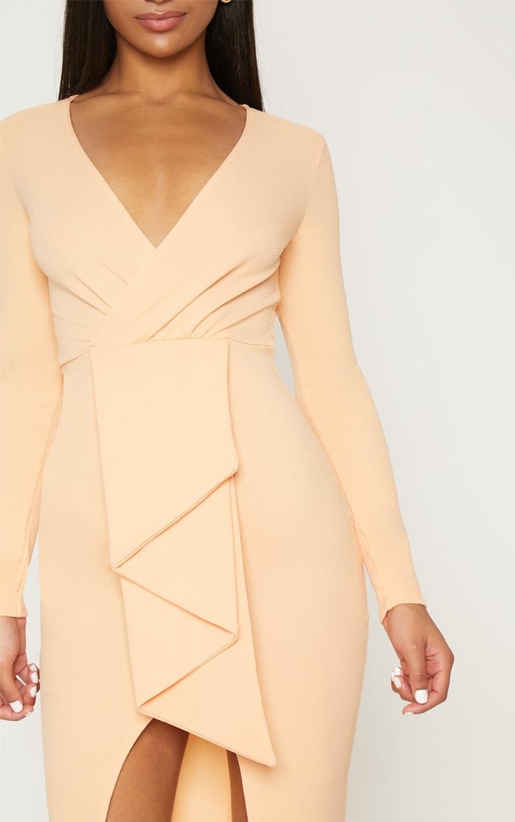 Tangerine Frill Midi Dress 5