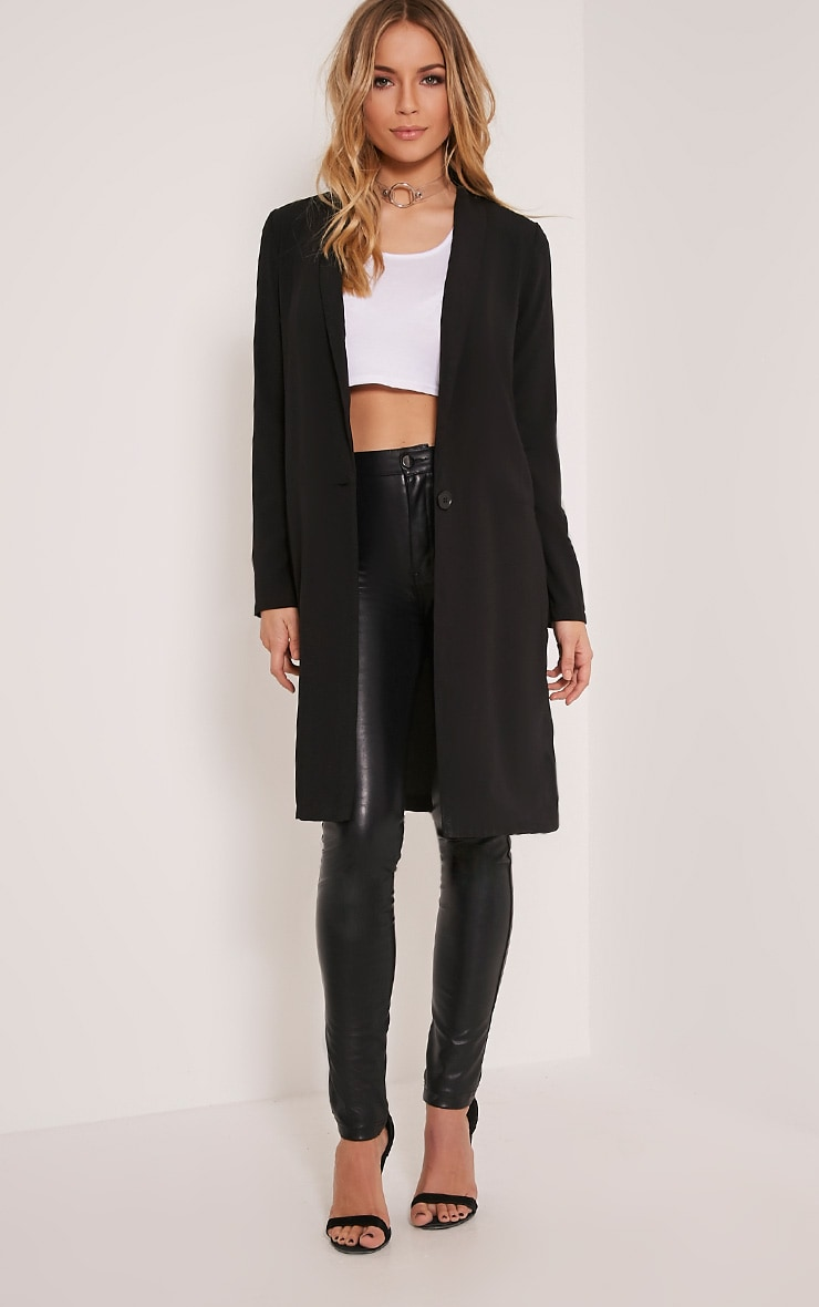 Kalla blazer long noir 5