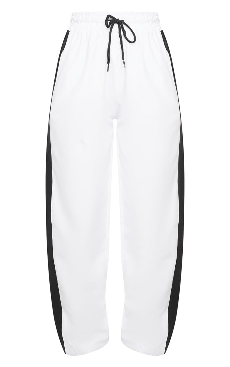 White Side Panel Joggers 3