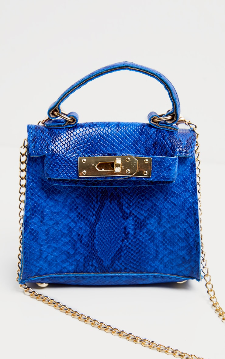 Blue Snake Print Micro Mini Bag 2