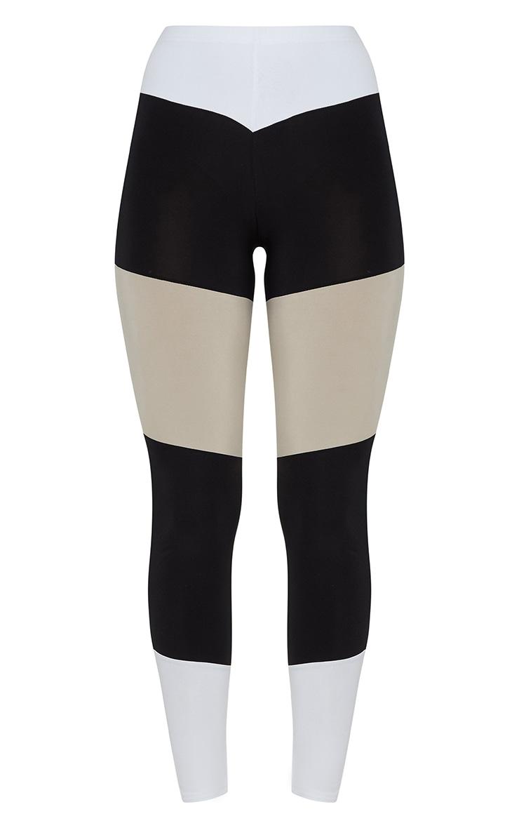 Black Slinky Colour Block V Legging 3