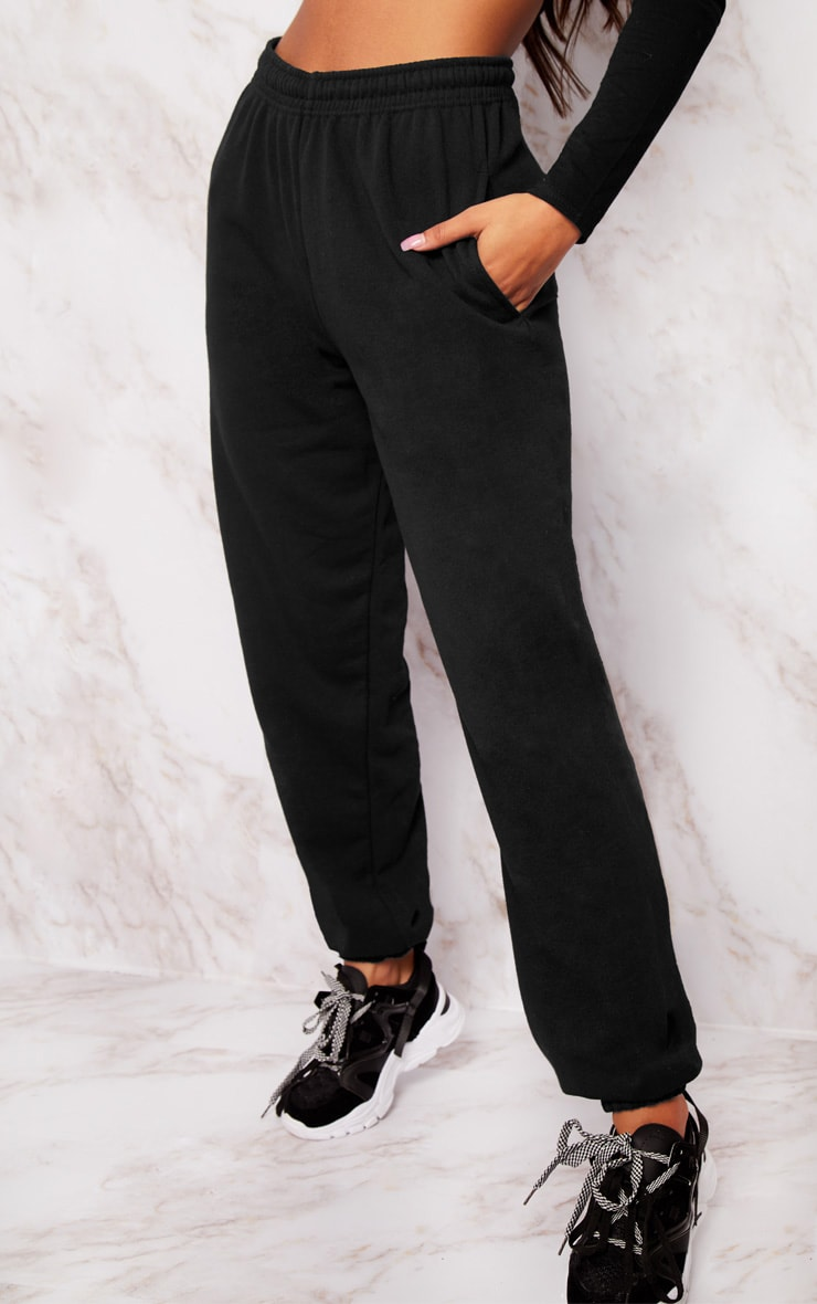 Black Casual Track Pants 2