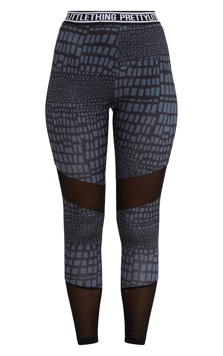 PRETTYLITTLETHING Grey Printed Leggings 4