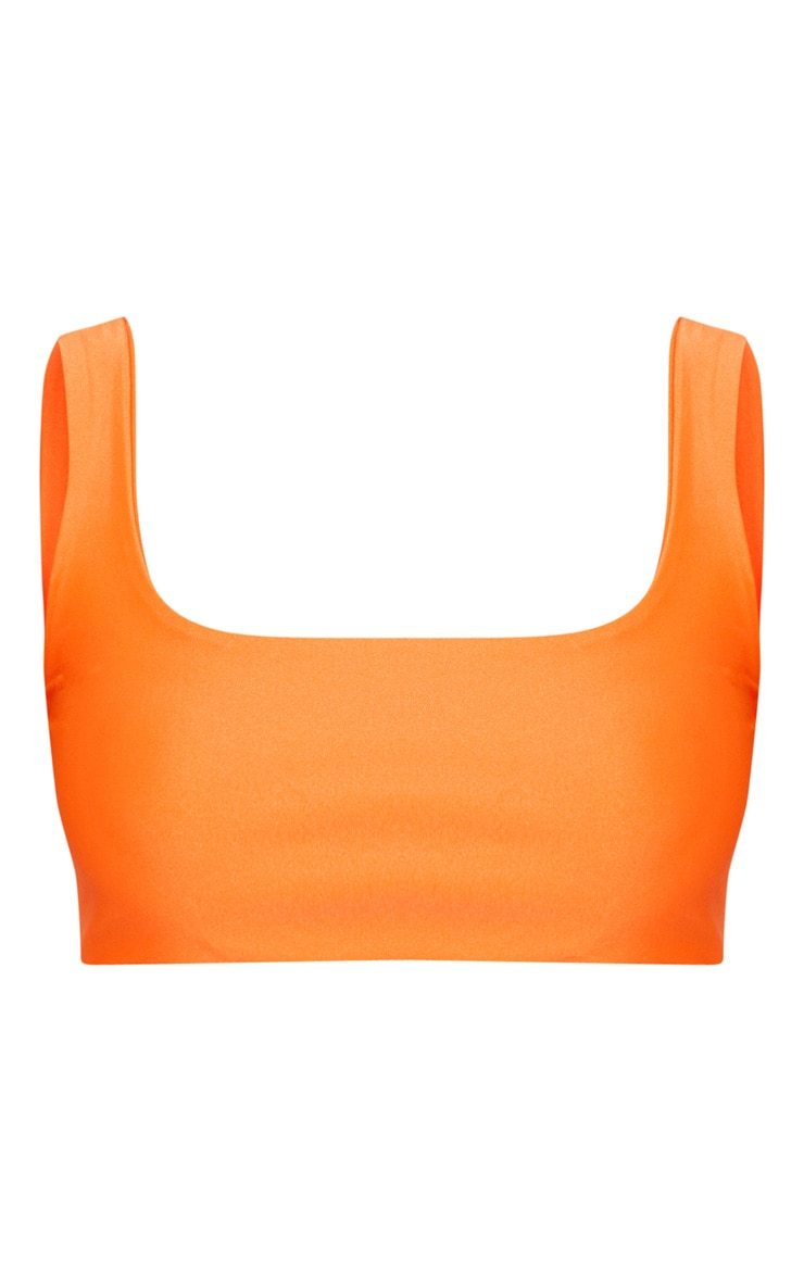 Orange Mix & Match Scoop Neck Top 3