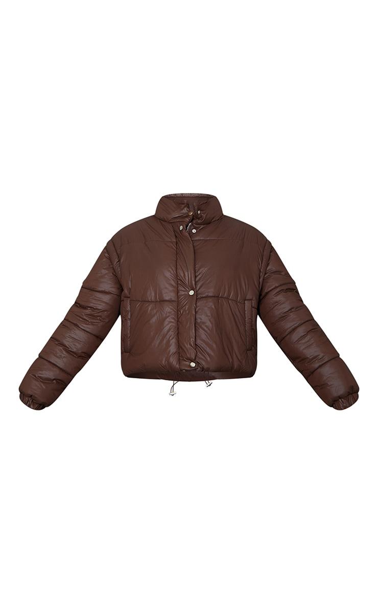 Chocolate Detachable Arm Gilet Puffer Jacket 5