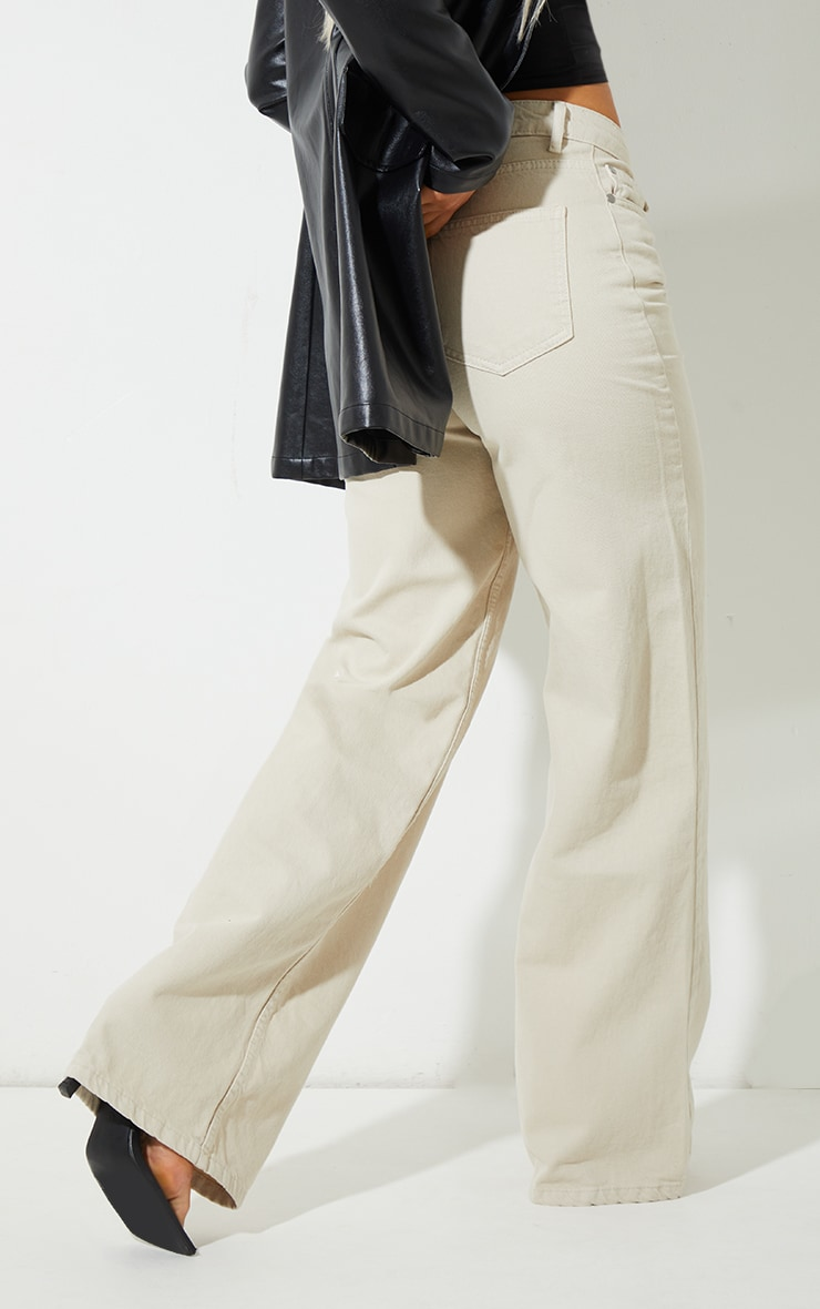Recycled Stone Wide Leg Jeans 3