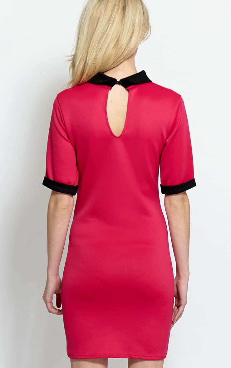 Katrina Fuchsia Collar Dress 2