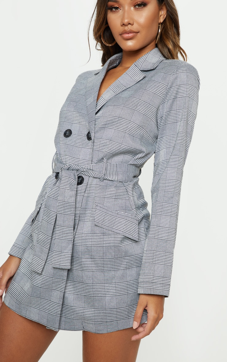 Grey Check Blazer Playsuit 5