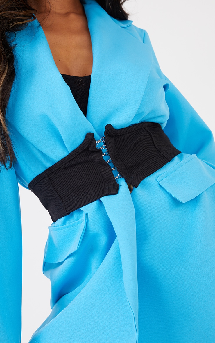 Black Hook And Eye Jersey Corset Belt 1