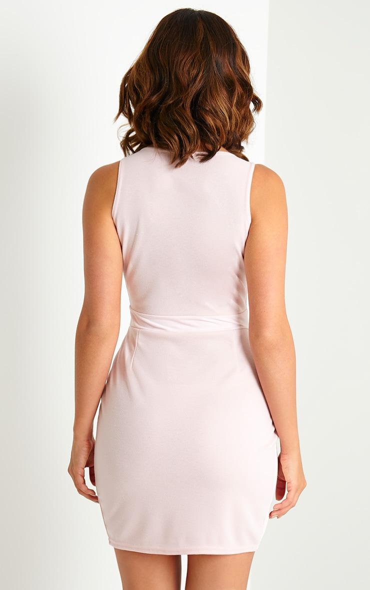 Keri Pink Suede Wrap Dress 2
