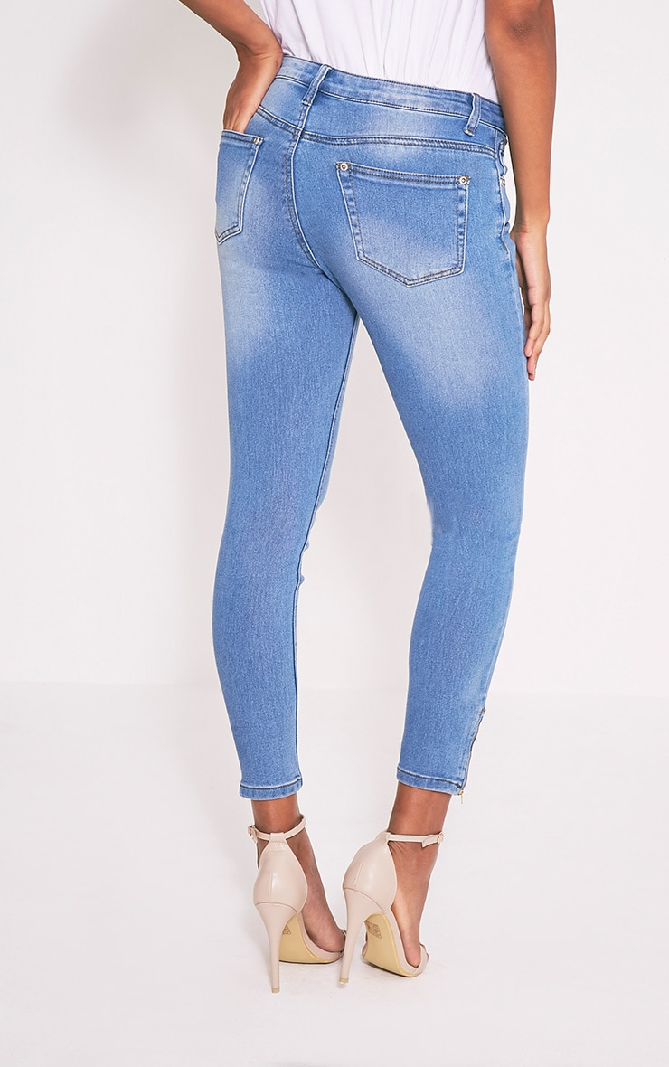 Light Wash 5 Pocket Ankle Grazer Skinny Jean 5