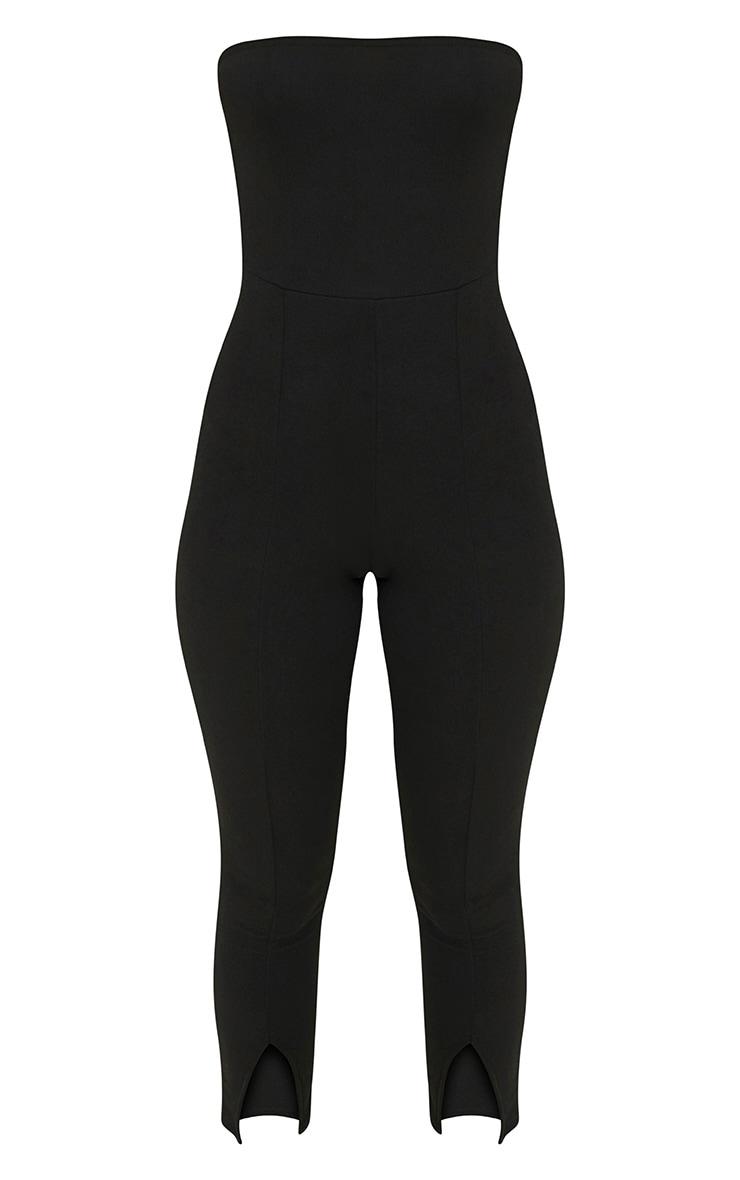 Black Bandeau Split Leg Jumpsuit 2