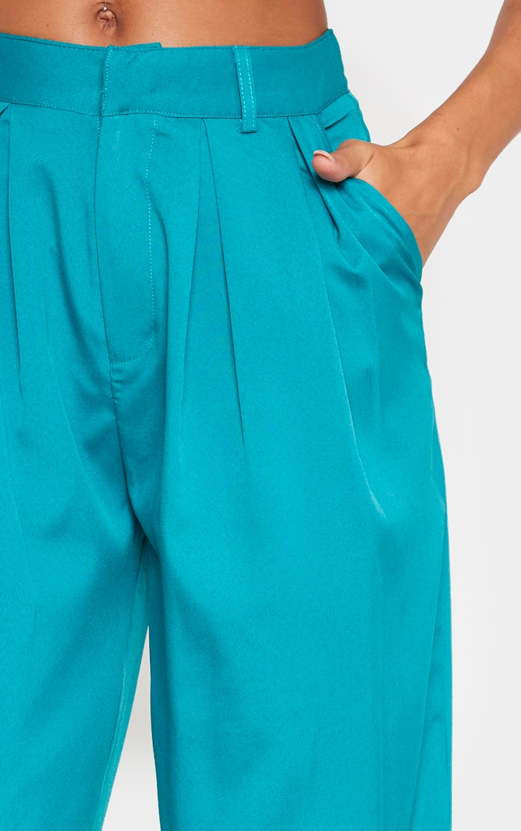 Teal Woven High Waisted Cigarette Trouser 5