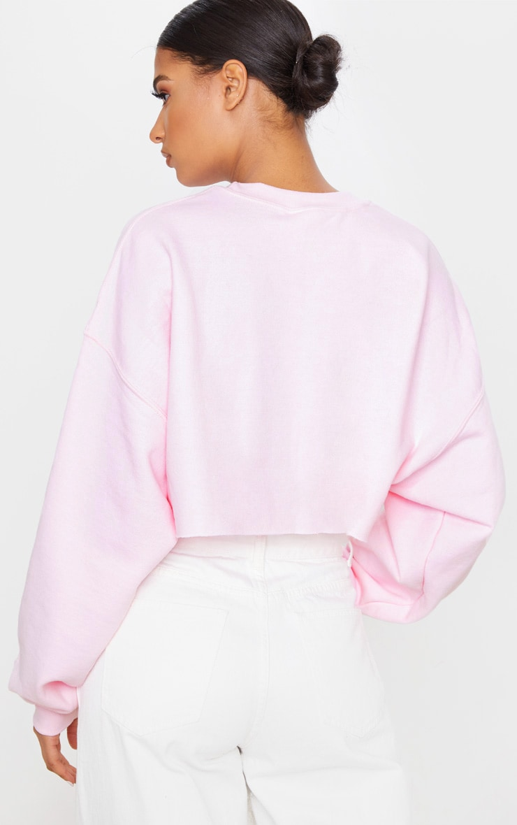 Light Pink Christmas Angel Cropped Sweatshirt 2
