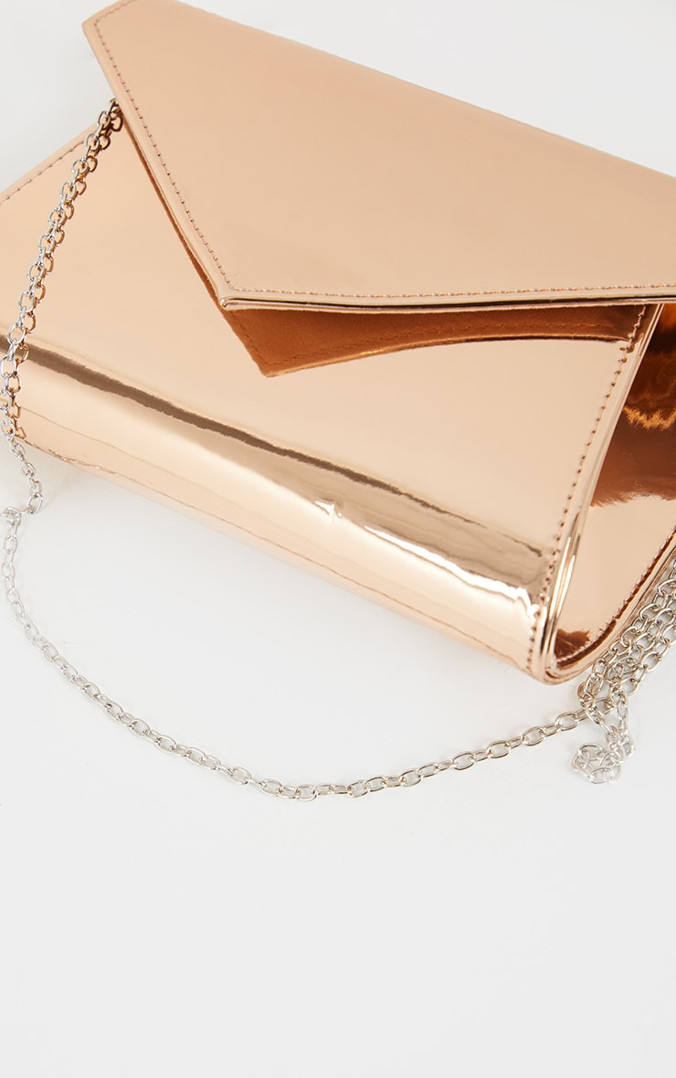 Rose Gold Chain Cross Body Bag 4