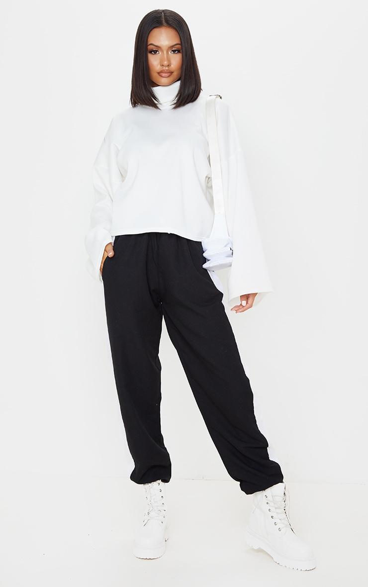 Cream Fleece Roll Neck Sweater 3