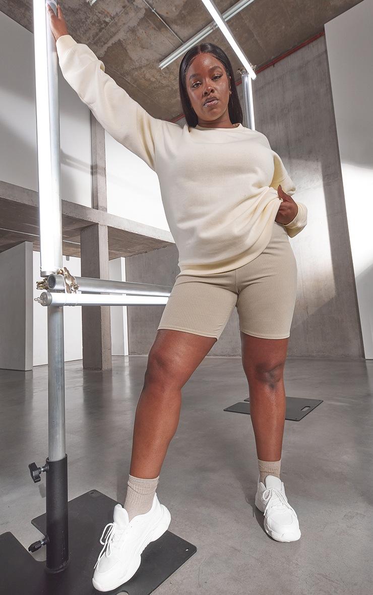 RENEW Plus Cream Oversized Sweatshirt 3