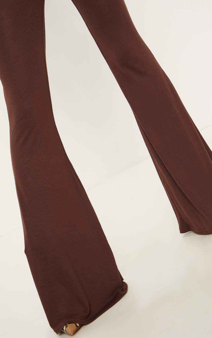 Chocolate Basic Jersey Flared Trouser 5