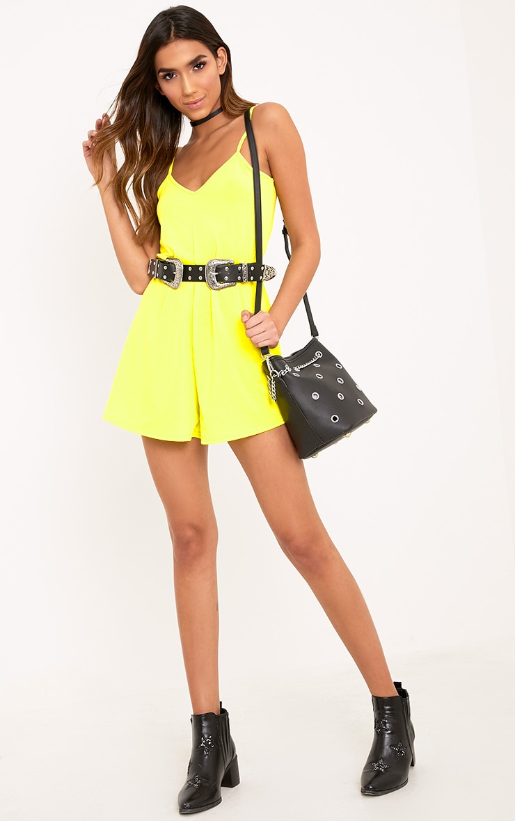 Alina Lemon Swing Playsuit 4