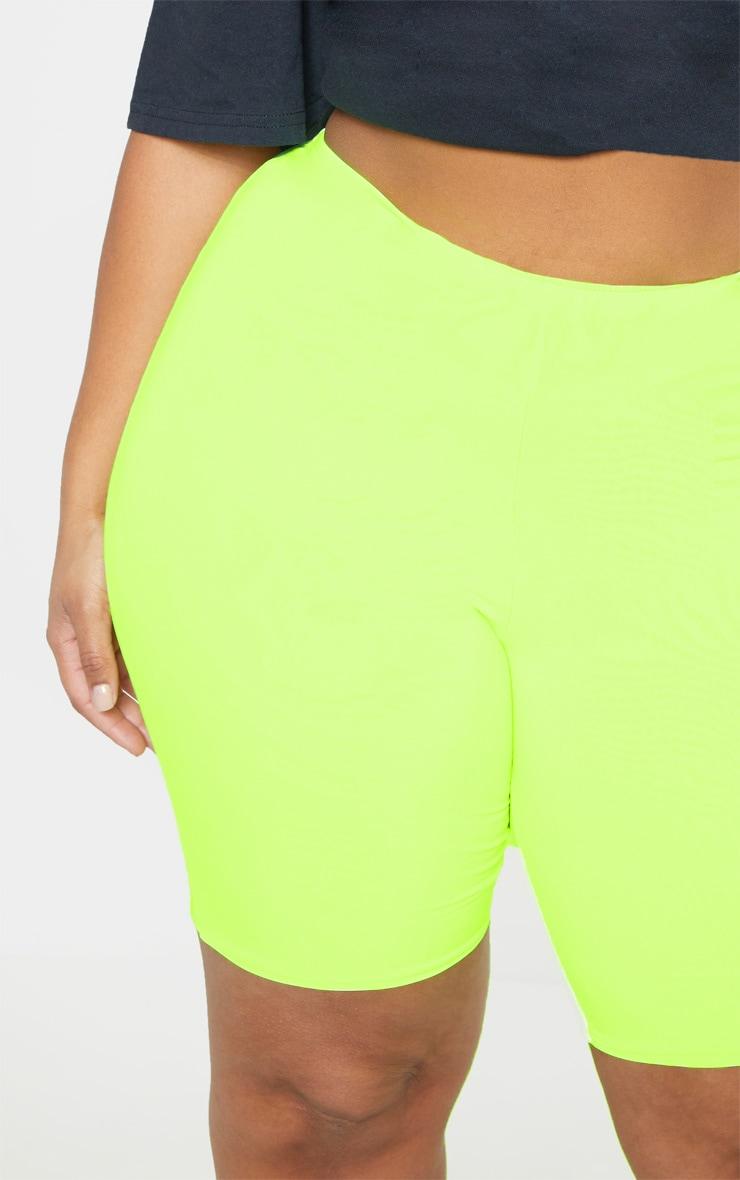 Plus Neon Lime Bike Shorts 6