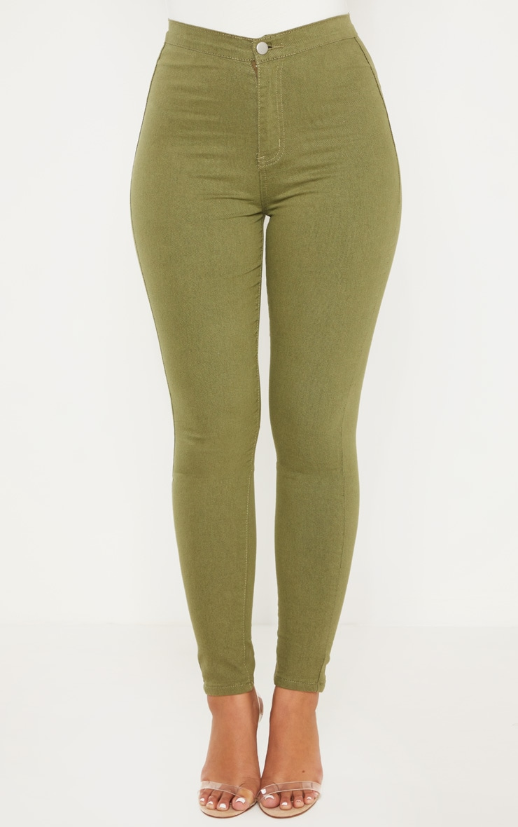 Khaki Denim Jegging 2