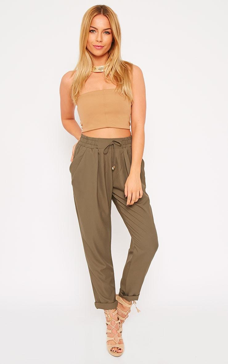Hilda Khaki Trousers 1