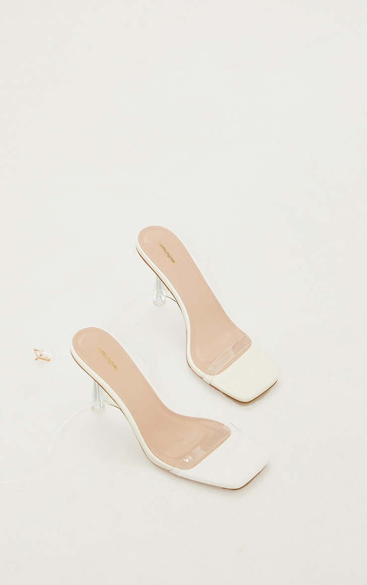 Nude Clear Heeled Sandals 3