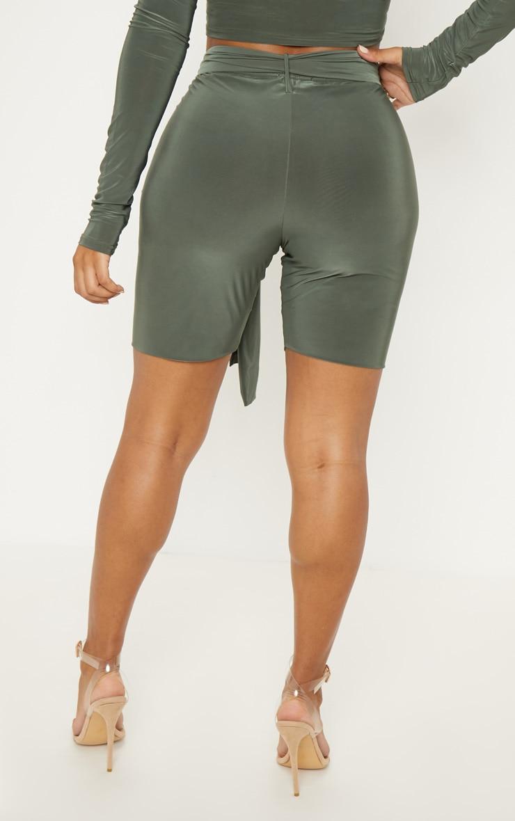 Shape Khaki  Slinky Tie Waist Bike Shorts 4