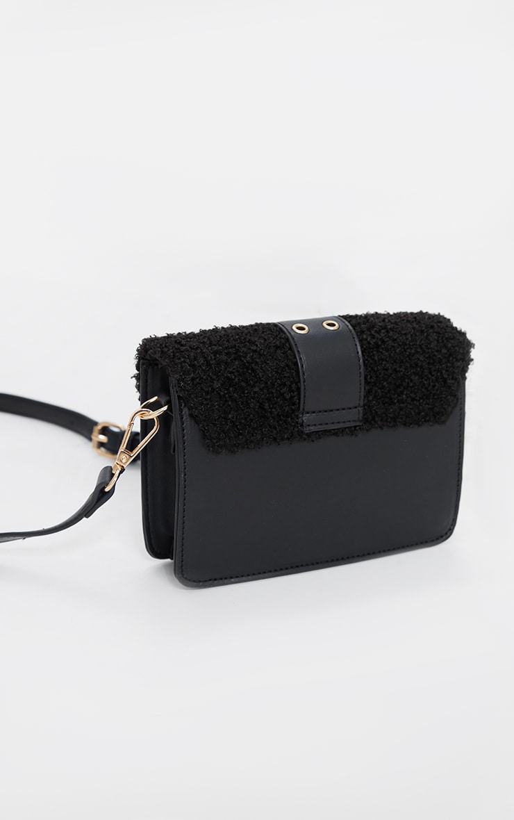 Black Borg Buckle Up Mini Satchel Cross Body Bag 3